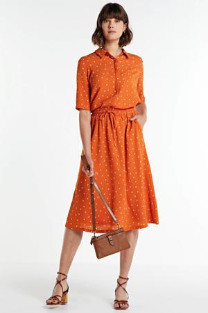 rok met stippen oranje
