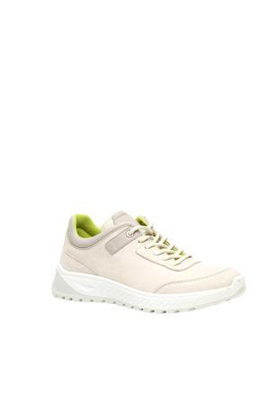 leren sneakers beige