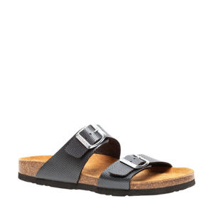 slippers grijs/bruin