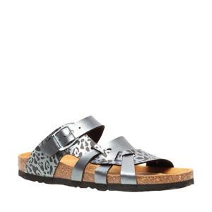 slippers zilver/bruin