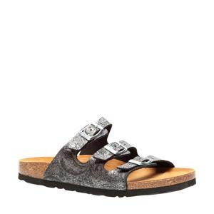 sandalen zilver/zwart