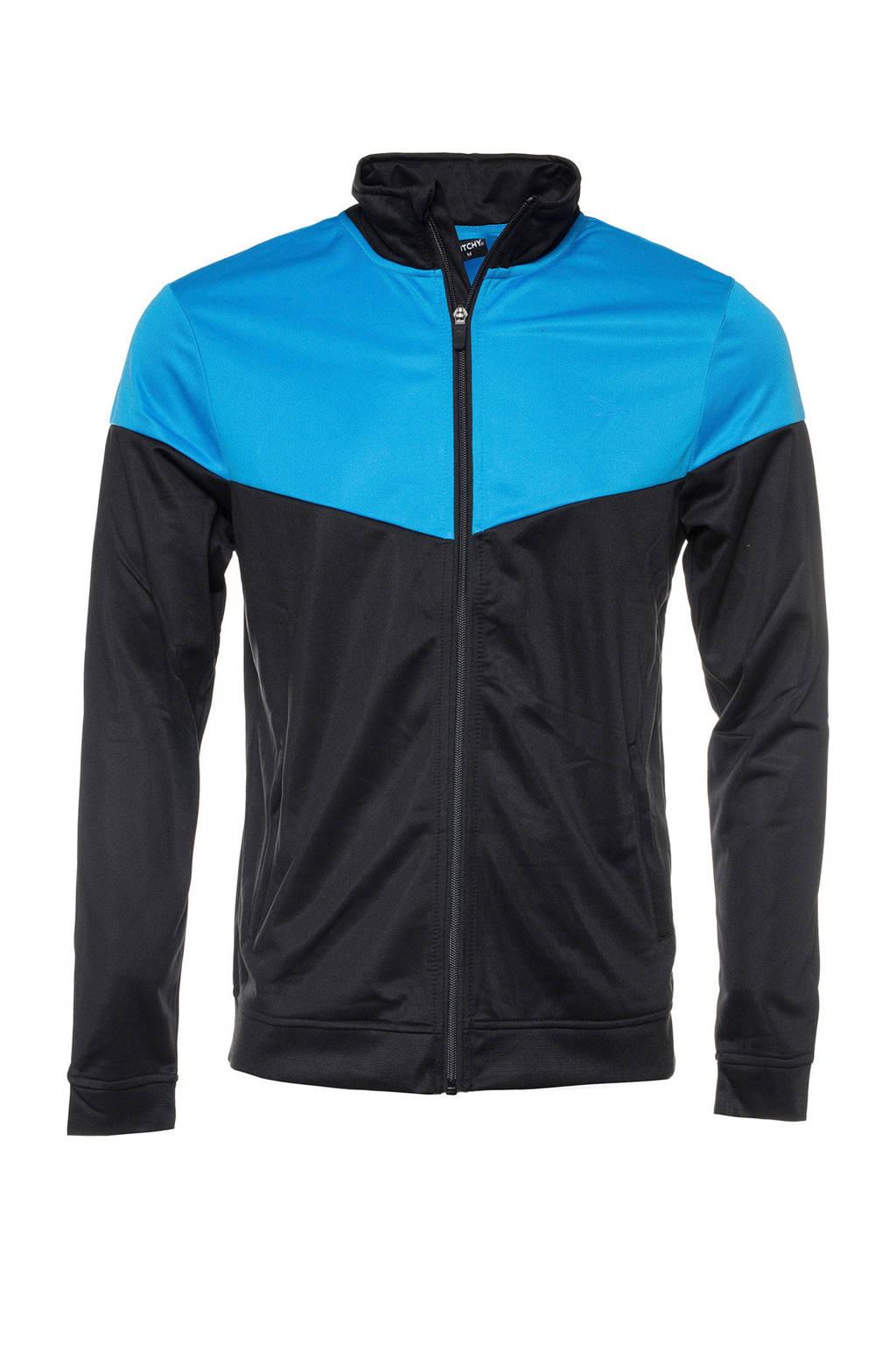 Scapino Dutchy   sportvest zwart/blauw, Zwart/blauw