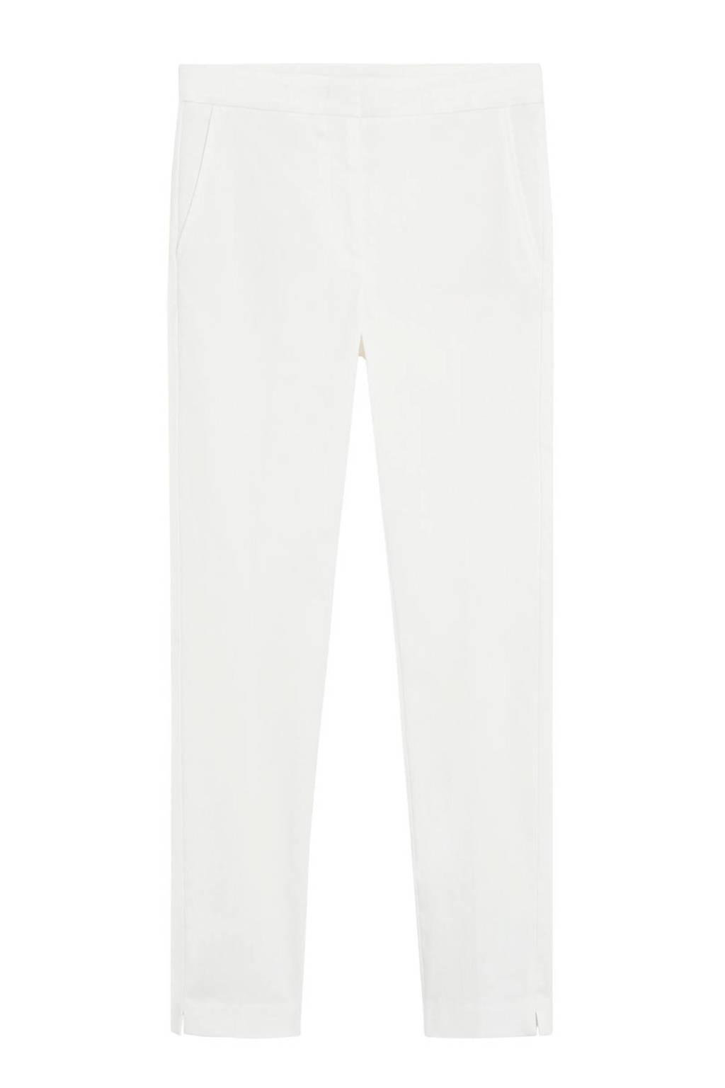 Mango slim fit pantalon gebroken wit, Gebroken wit