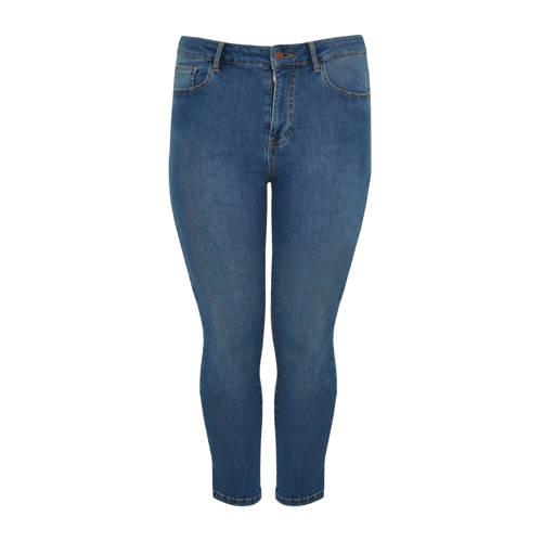 Yoek high waist skinny capri jeans lichtblauw
