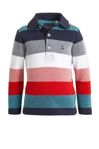 C&A Palomino gestreepte polo donkerblauw/rood/wit, Donkerblauw/rood/wit