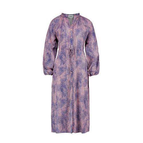 CKS maxi jurk Janka met all over print blauw/paars