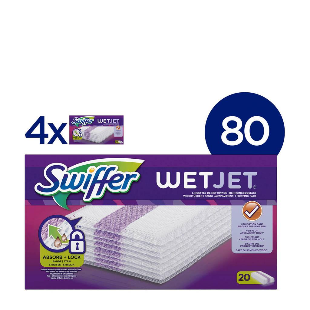 Swiffer  WetJet Dweilsysteem Navulling Reinigingsdoekjes - 4x20 stuks