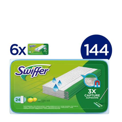 Wehkamp-Swiffer Vloerreiniger Frisse Citroengeur - Vochtige Vloerdoekjes - 6x24 Stuks-aanbieding