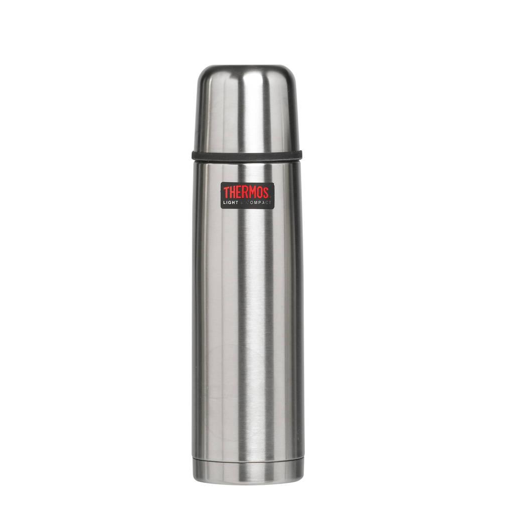 Thermos Thermosfles RVS (0.75 Liter), Grijs