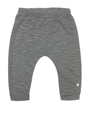 baby geruite regular fit broek Bill antraciet