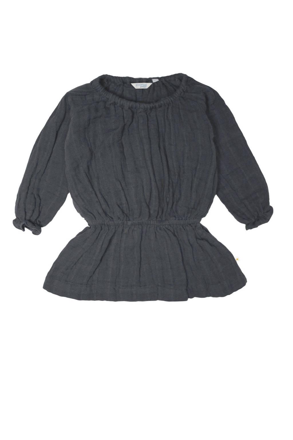 Moodstreet Petit baby jurk Sue van biologisch katoen antraciet, Antraciet