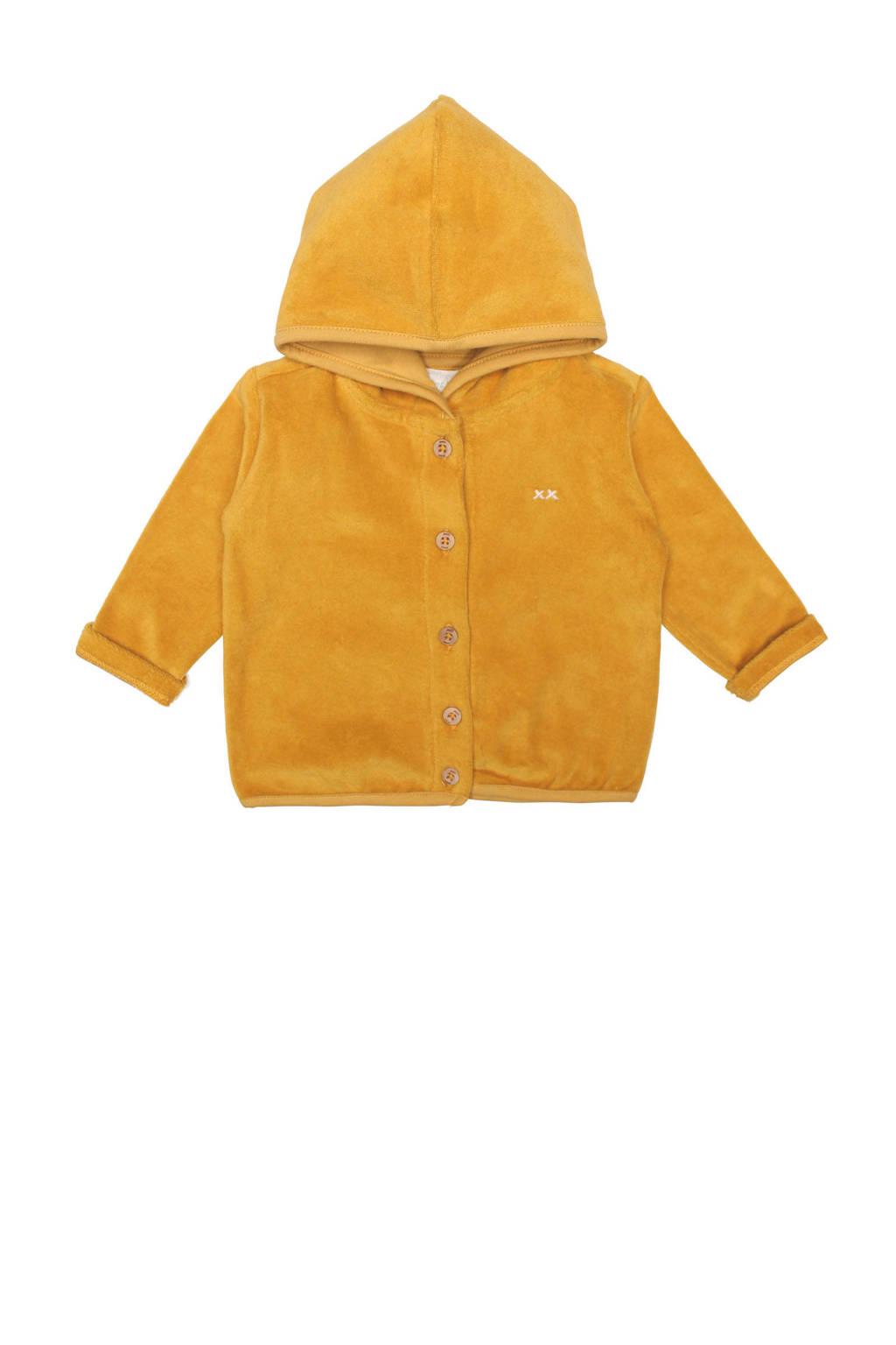 Moodstreet Petit baby velours vest Fedde goud, Goud