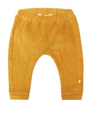 baby velours regular fit broek Ted goud