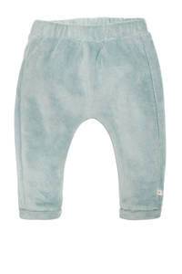 Moodstreet Petit baby velours regular fit broek Ted groen, Groen