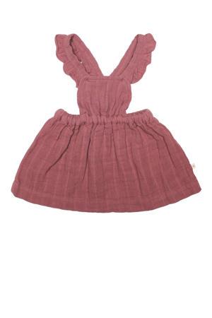 salopette jurk roodbruin