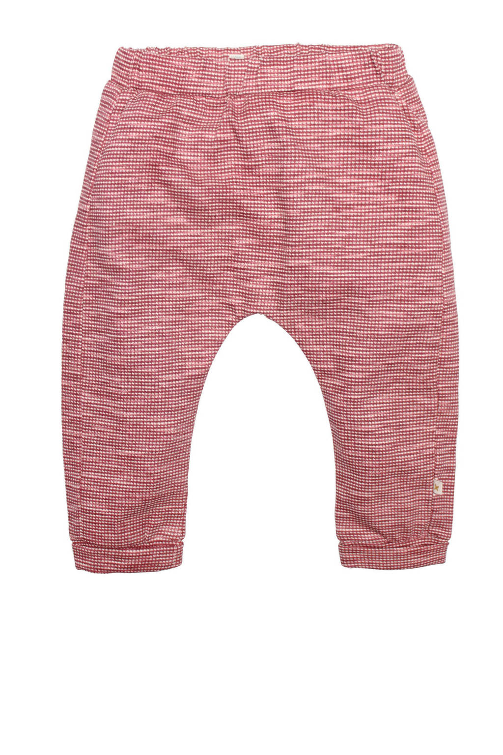 Moodstreet Petit baby geruite regular fit broek Bill rood, Rood