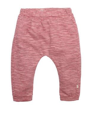baby geruite regular fit broek Bill rood