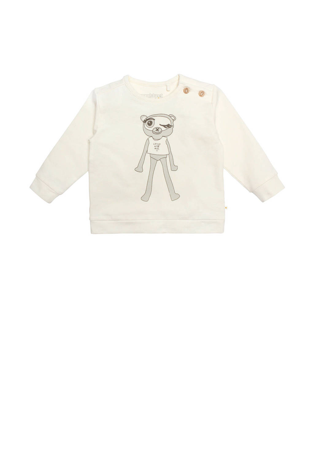 Moodstreet Petit baby sweater Bobbi wit, Wit