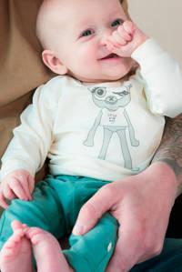 Moodstreet Petit baby regular fit broek Lou groen, Groen