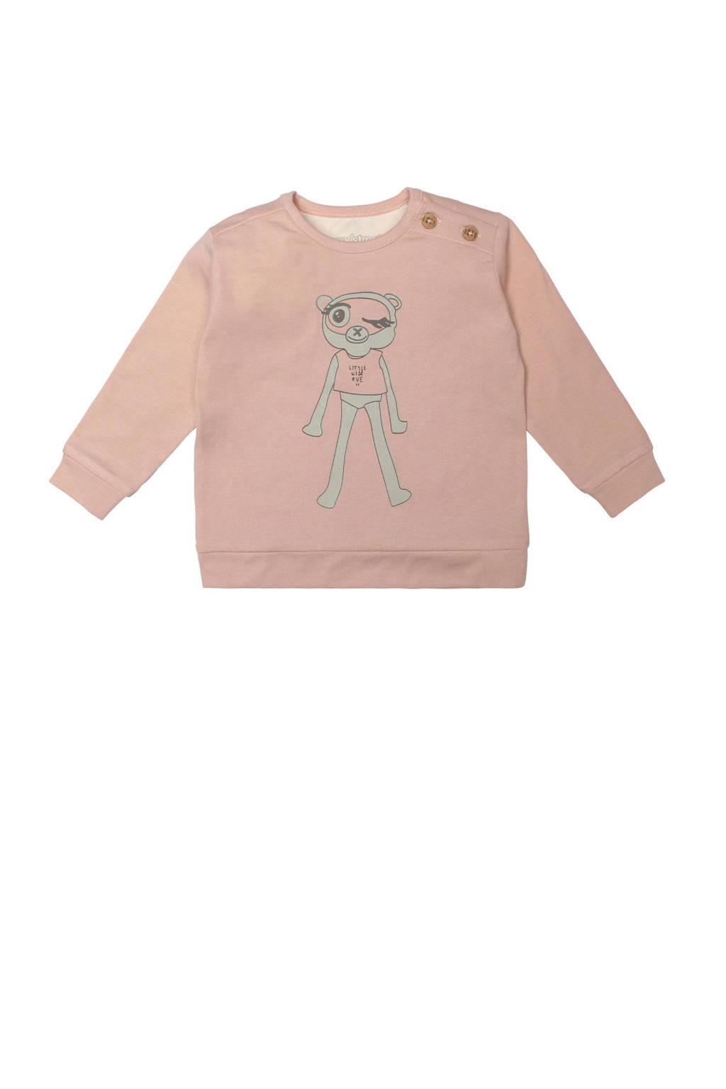 Moodstreet Petit baby sweater Bobbi lichtroze, Lichtroze