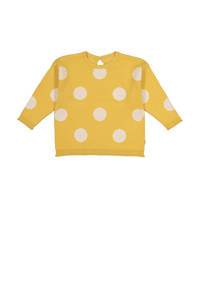 HEMA trui met stippen geel/wit, Geel