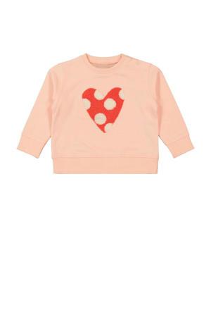 sweater met 3D applicatie zalm
