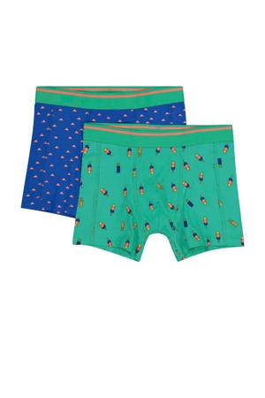 boxershorts blauw/groen - set van 2