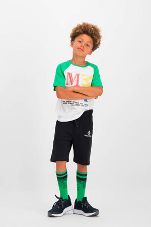regular fit sweatshort Robben met logo zwart