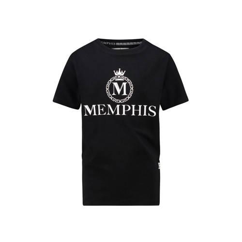 Vingino Memphis Depay T-shirt Hozano met logo zwar