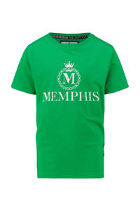 Vingino Memphis Depay T-shirt Hozano met logo groen, Groen