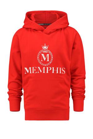 hoodie Nenzel met logo rood