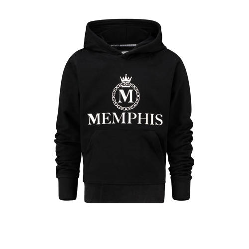 Vingino Memphis Depay hoodie Nenzel met logo zwart