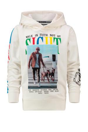hoodie Memphis met printopdruk wit