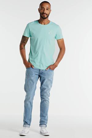 T-shirt met printopdruk mintgroen/wit