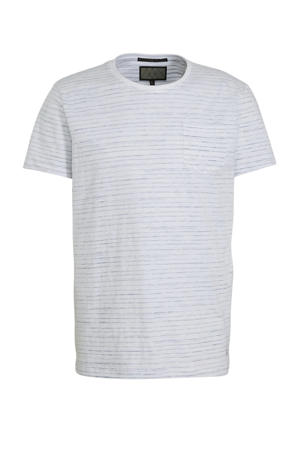 gestreept T-shirt wit/grijs