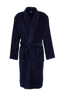 HEMA velours badjas donkerblauw, Donkerblauw