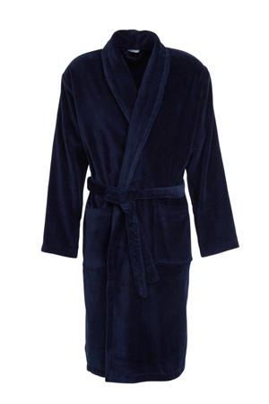 velours badjas donkerblauw