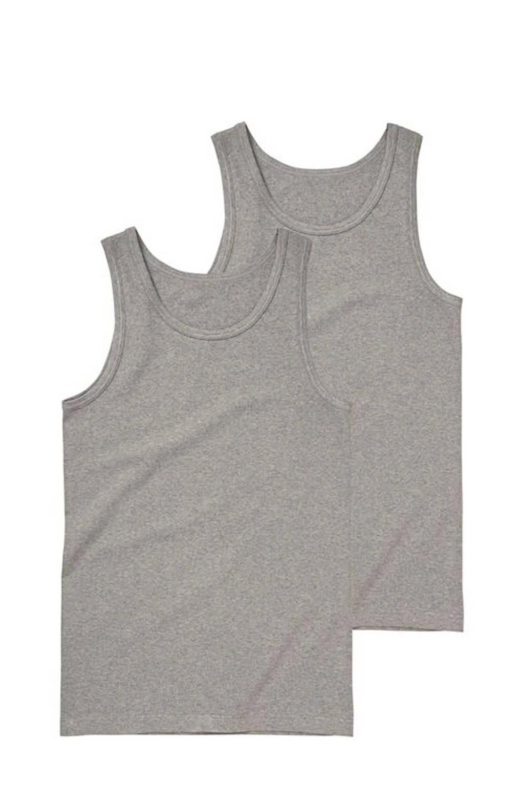 HEMA hemd (set van 2 ) grijs, Grijs