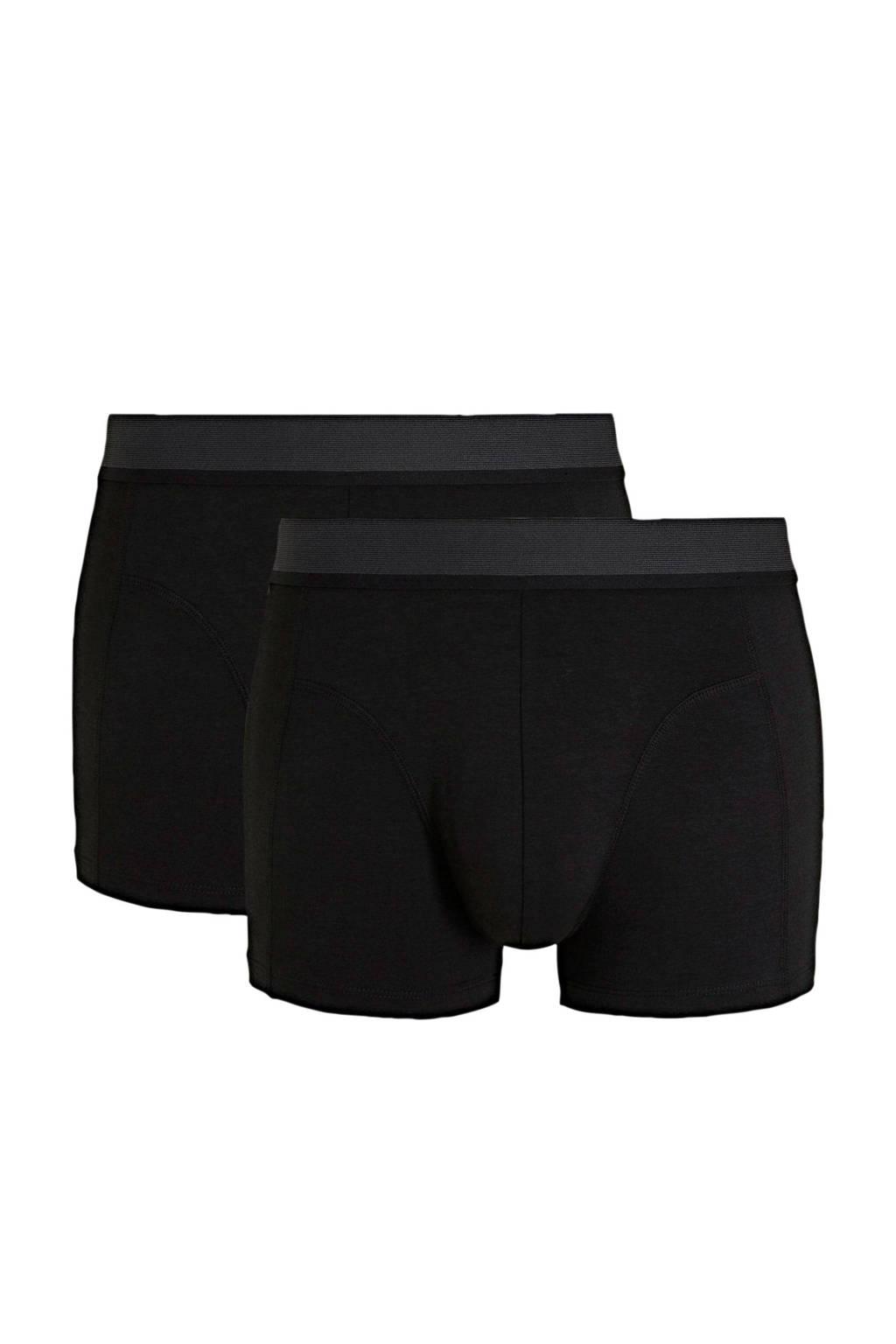 HEMA boxershort met bamboe (set van 2) zwart, Zwart