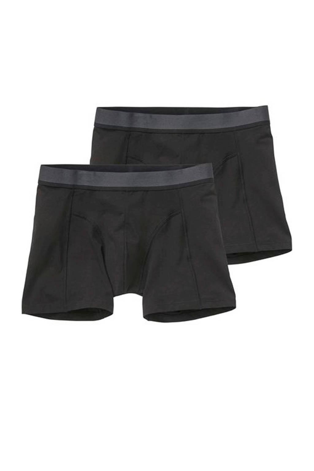 HEMA boxershort met bamboo (set van 2), Zwart