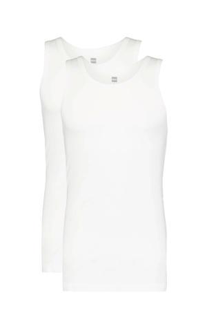 hemd met bamboe wit (set van 2)