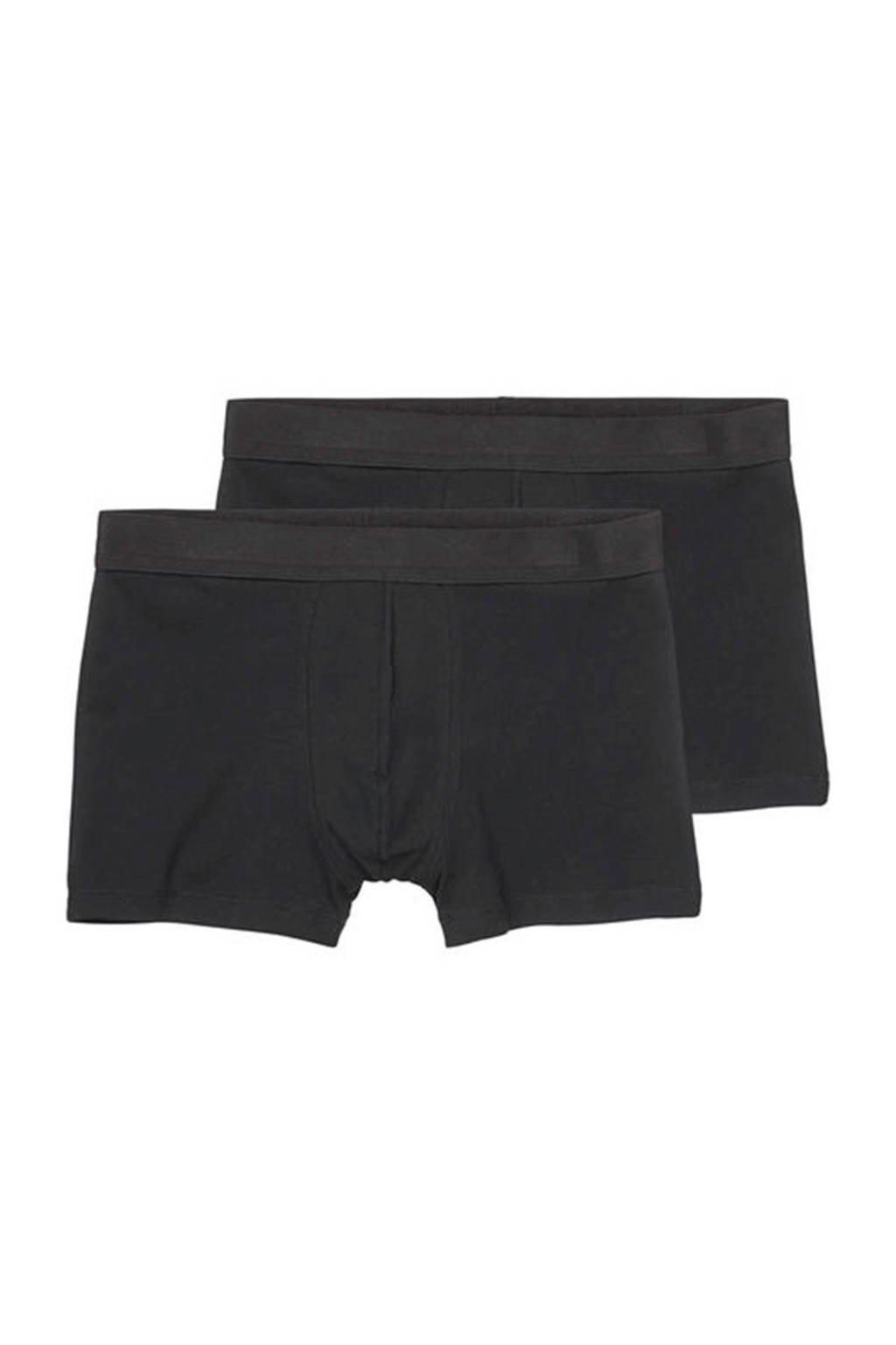HEMA boxershort (set van 2) zwart, Zwart