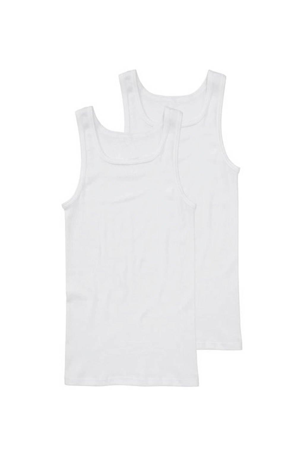 HEMA hemd (set van 2) wit, Wit