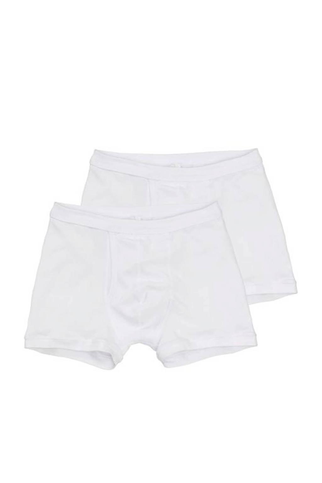 HEMA boxershort (set van 2) wit, Wit