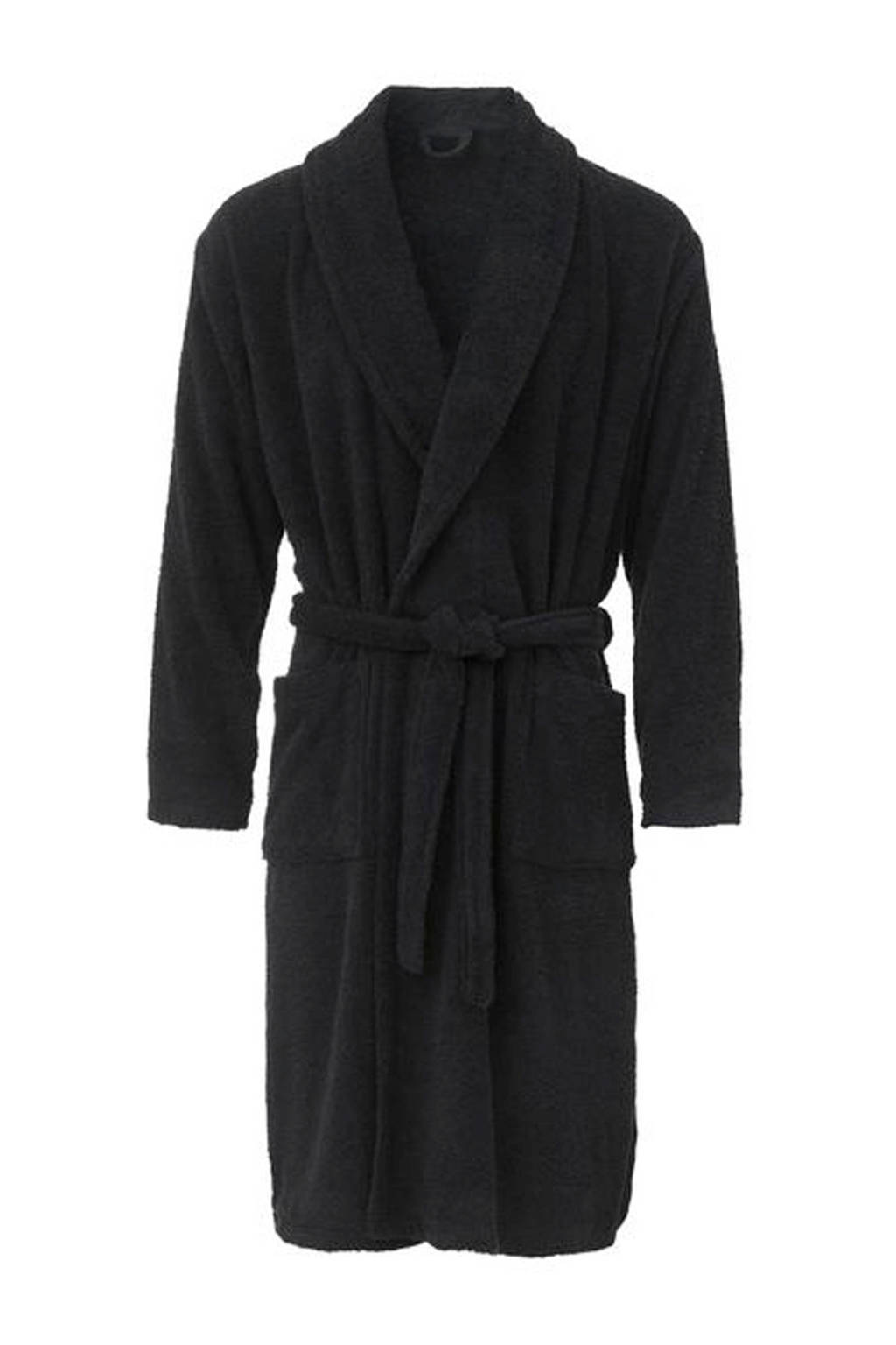 HEMA badstof badjas donkerblauw, Donkerblauw