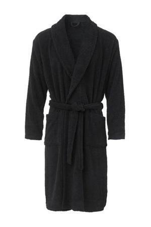 badstof badjas donkerblauw