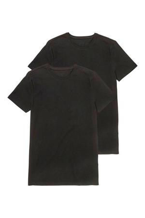 T-shirt (set van 2) zwart