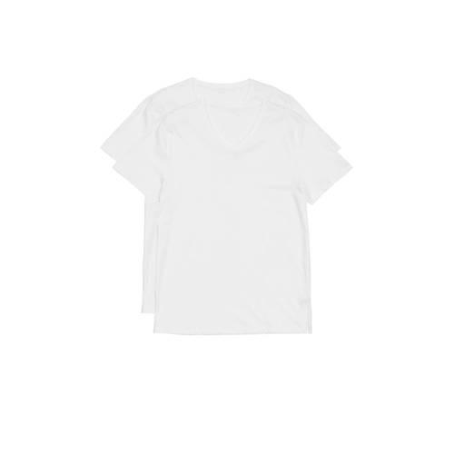 HEMA T-shirt (set van 2) wit