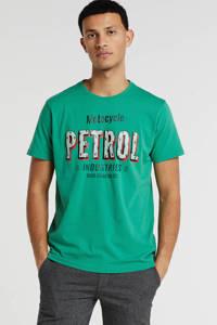 Petrol Industries T-shirt met logo groen, Groen