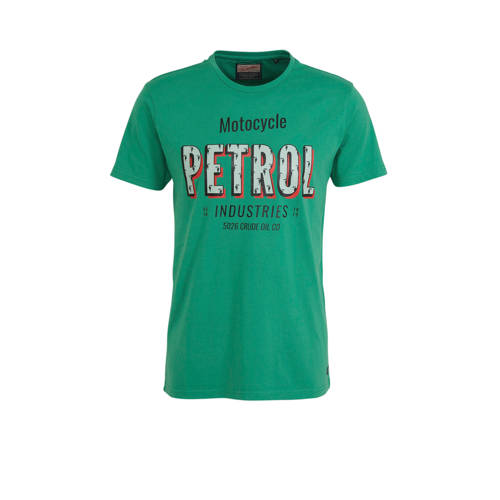 Petrol Industries T-shirt met logo groen